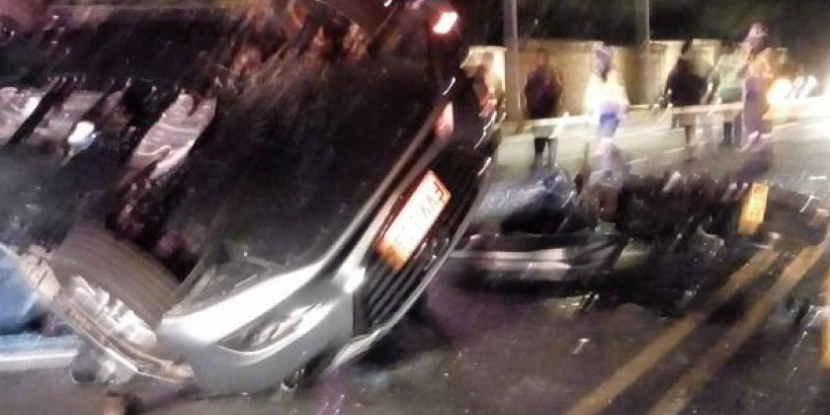 Gravísimo accidente en vía que de Bogotá conduce a Guasca deja 3 muertos