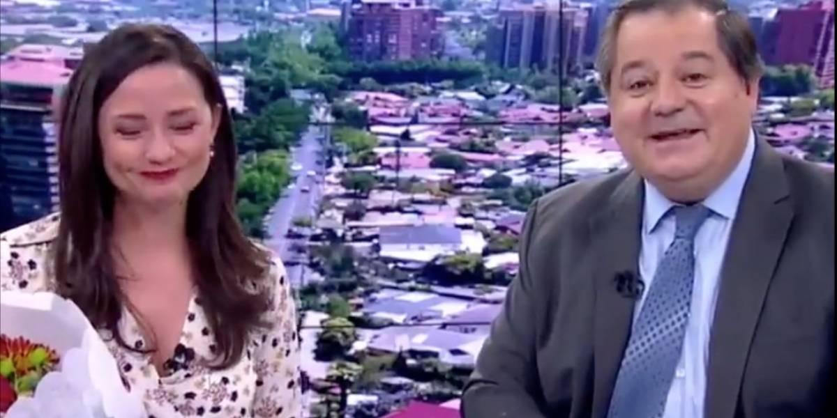 La llorada despedida de Andrea Arístegui del noticiero de TVN tras 18 años