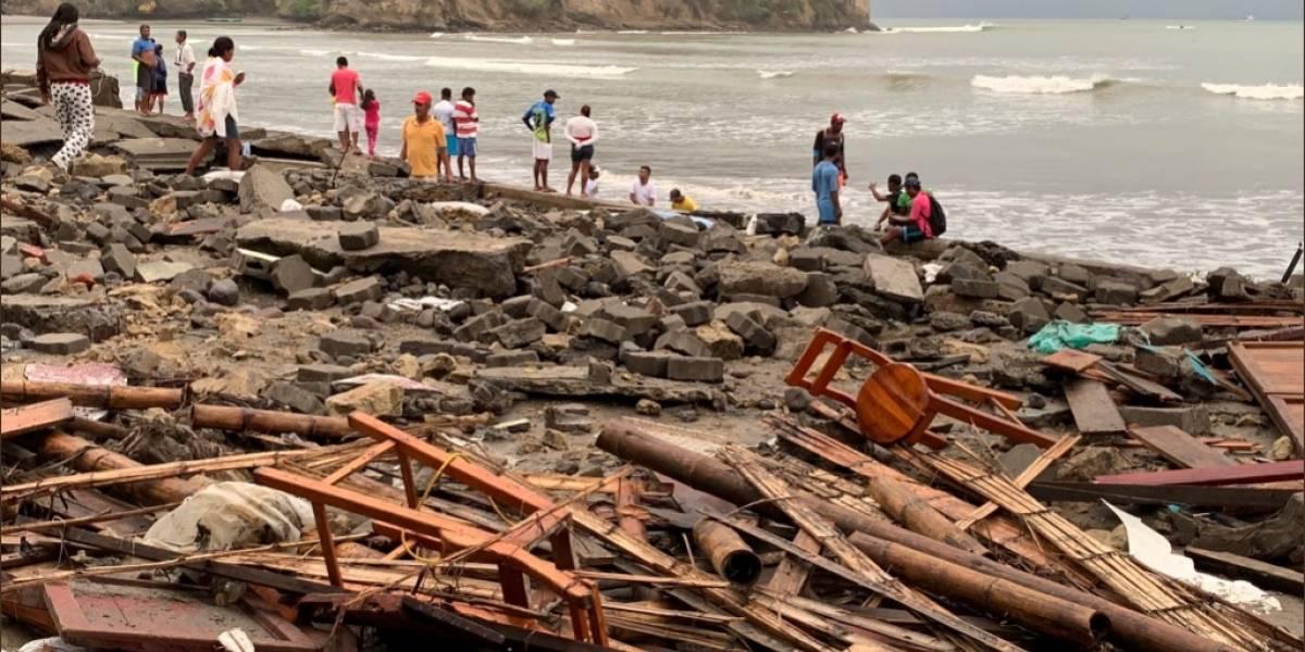 Oleaje en la Costa dejó 169 damnificados y decenas de viviendas afectadas