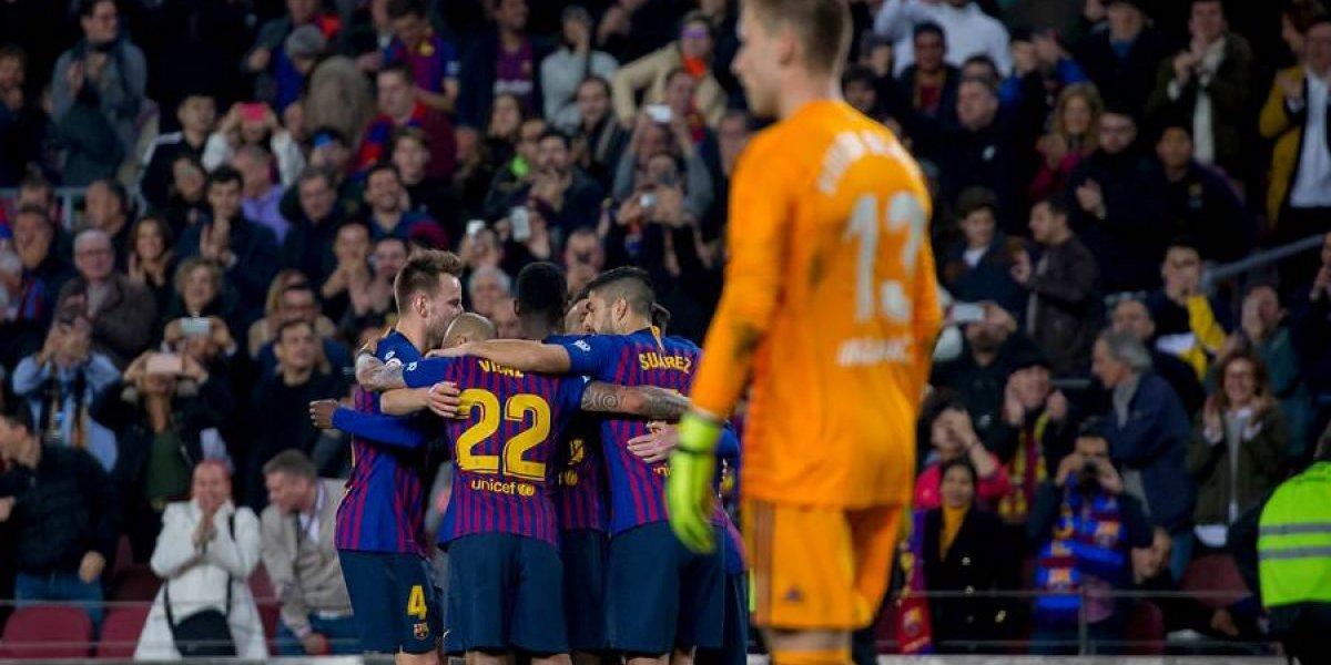 Arturo Vidal fue titular y se fue ovacionado en nuevo triunfo de Barcelona en la Liga