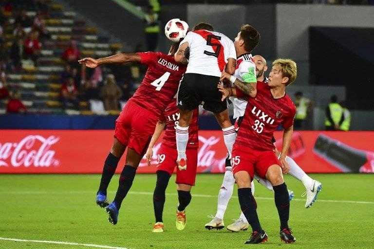 """El equipo """"Millonario"""" celebró con todo, su triunfo ante el Kashima Antlers. AFP"""