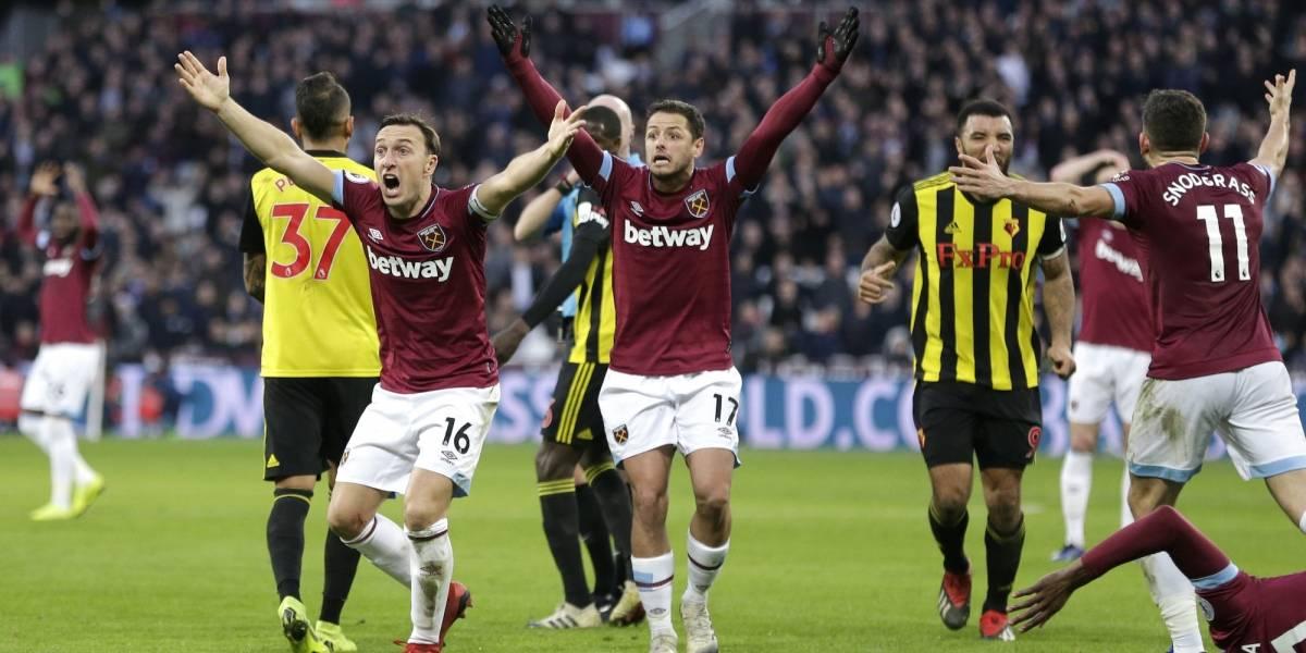 'Chicharito' y West Ham pierden racha positiva ante Watford