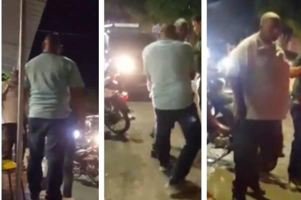 El bochornoso espectáculo que protagonizó el alcalde de Codazzi en plena vía publica