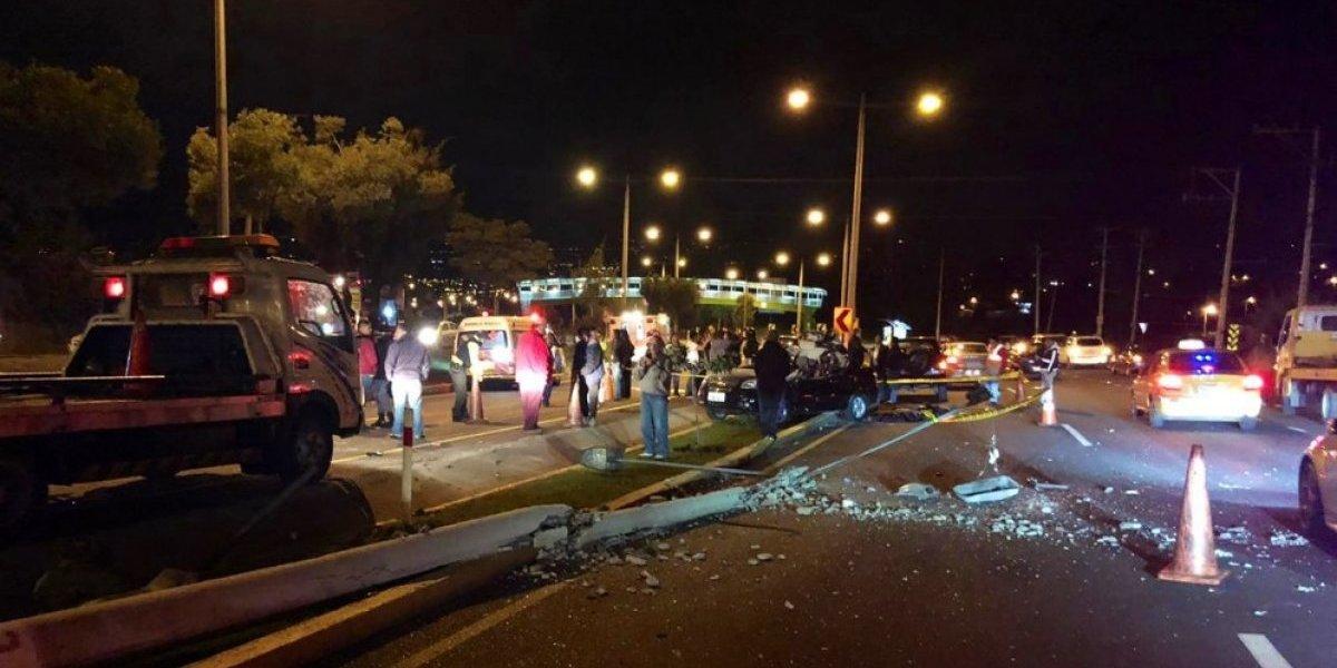 Tres fallecidos dejó accidente en la Autopista General Rumiñahui
