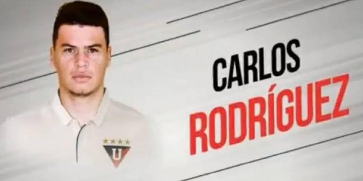 El defensa Carlos Rodríguez es el nuevo jugador de Liga de Quito
