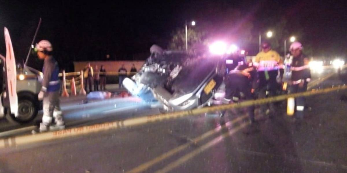 Así fue el grave accidente en la vía Bogotá- Guasca que dejó tres muertos