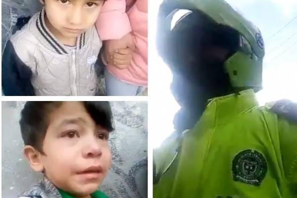 niños denuncian en medio de lagrimas que fueron agredidos por la Policía en Bogotá