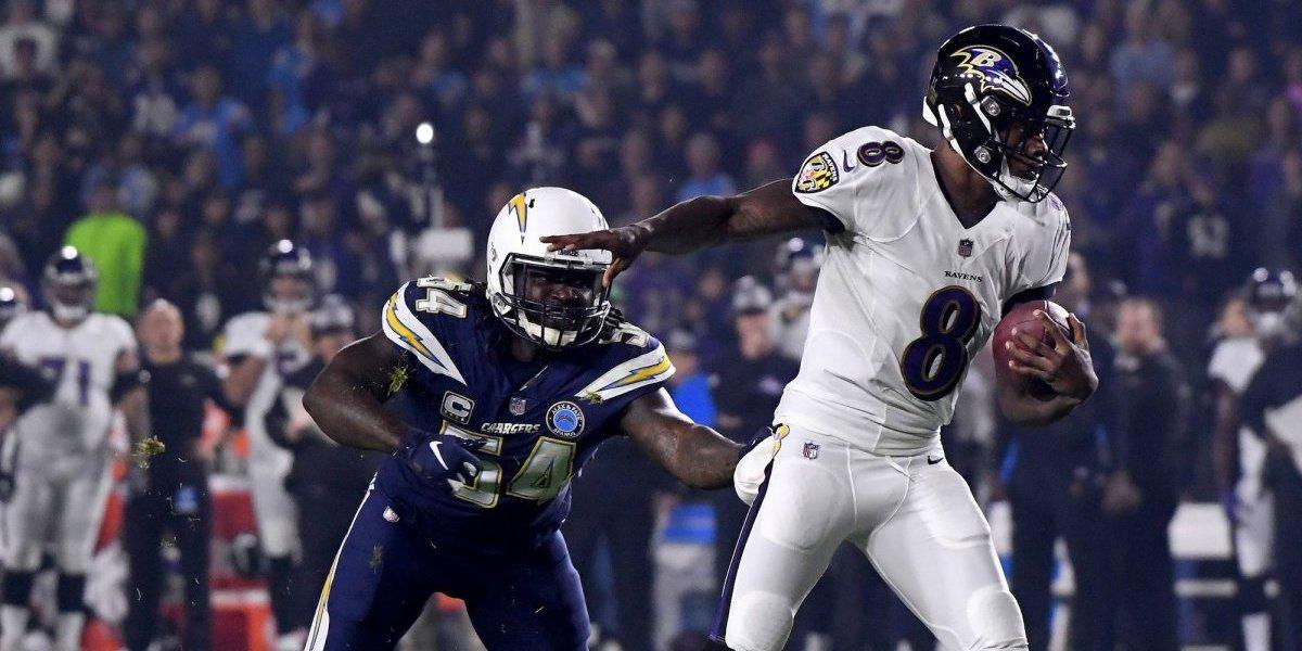 Ravens derrota a Chargers con destacada actuación de Lamar Jackson