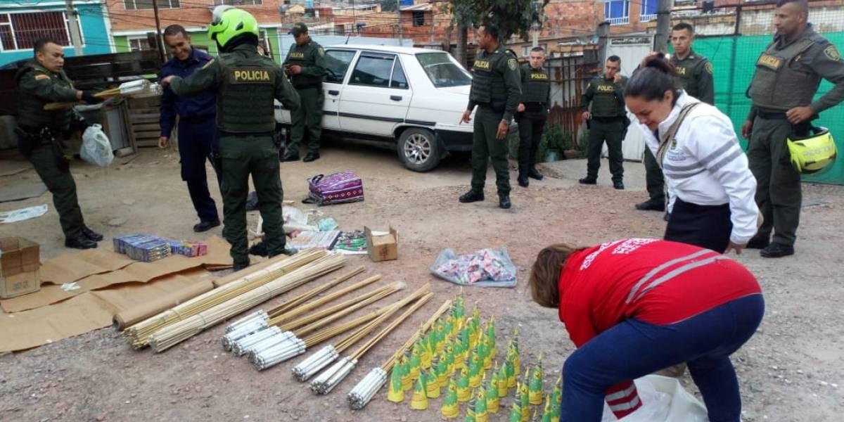 Gigantesca incautación de pólvora en Bogotá