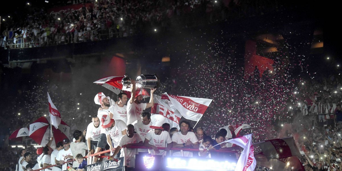 VIDEO: La espectacular celebración de River Plate en 'El Monumental'