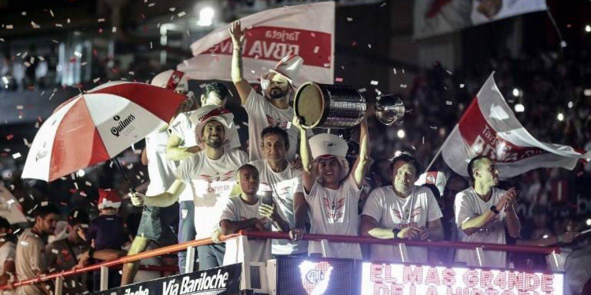 VIDEO. La hinchada de River Plate enloquece al dar la bienvenida su campeón