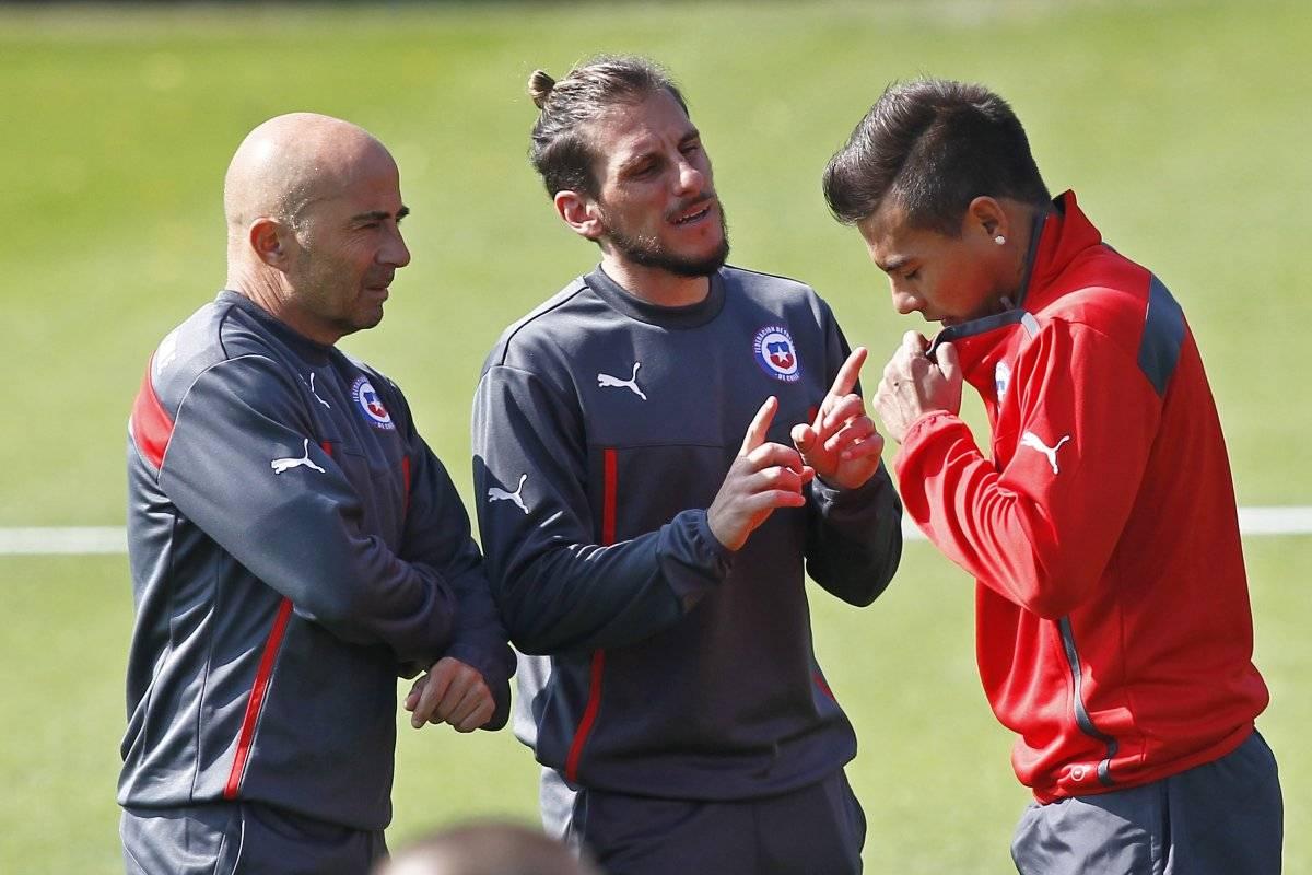 Vargas y Sampaoli se podrían volver a encontrar / imagen: Photosport