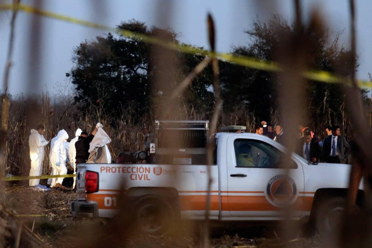 Lugar del accidente donde murieron Rafael Moreno Valle y su esposa, Martha Erika Alonso, gobernadora de Puebla Foto: Cortesía