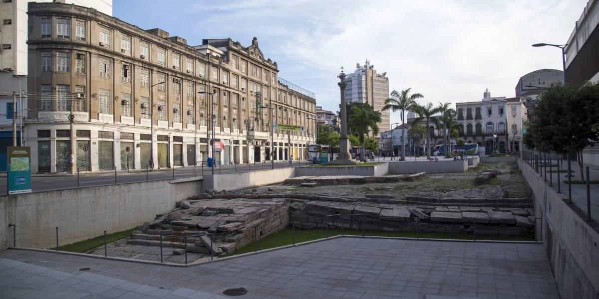 Patrimônio da Humanidade, Cais do Valongo sofre alagamento no Centro do Rio