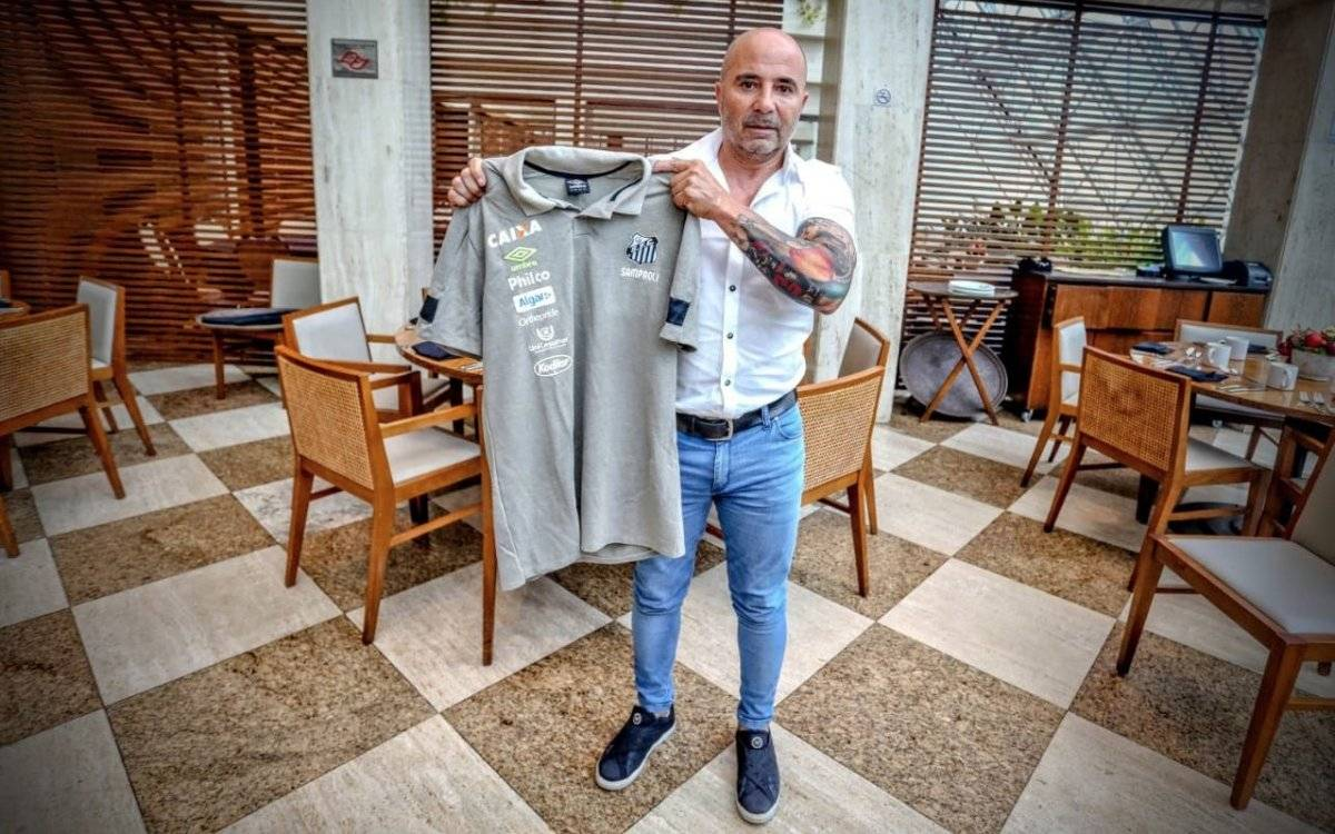 Sampaoli ya trabaja a full en Santos / imagen: Twitter Santos