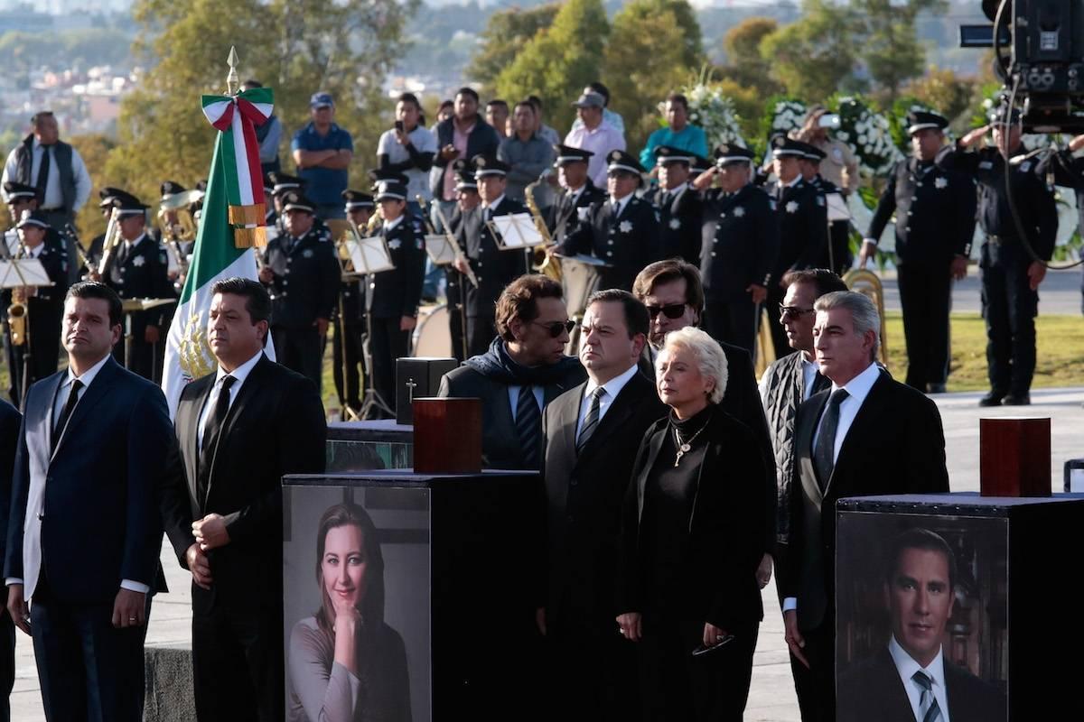 Inicia el funeral de estado de Martha Erika Alonso en Puebla