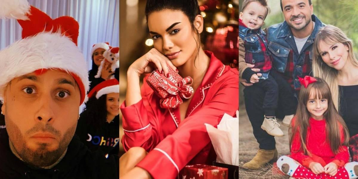 Así fue como estos famosos celebraron y enviaron sus buenos deseos de Navidad