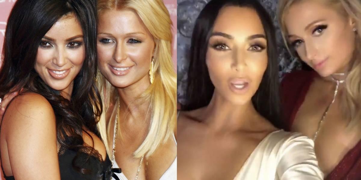 Kim Kardashian y Paris Hilton juntas de nuevo en extravagante fiesta navideña