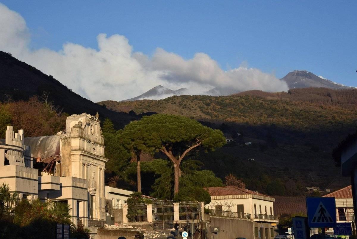 erupción del volcán Etna EFE