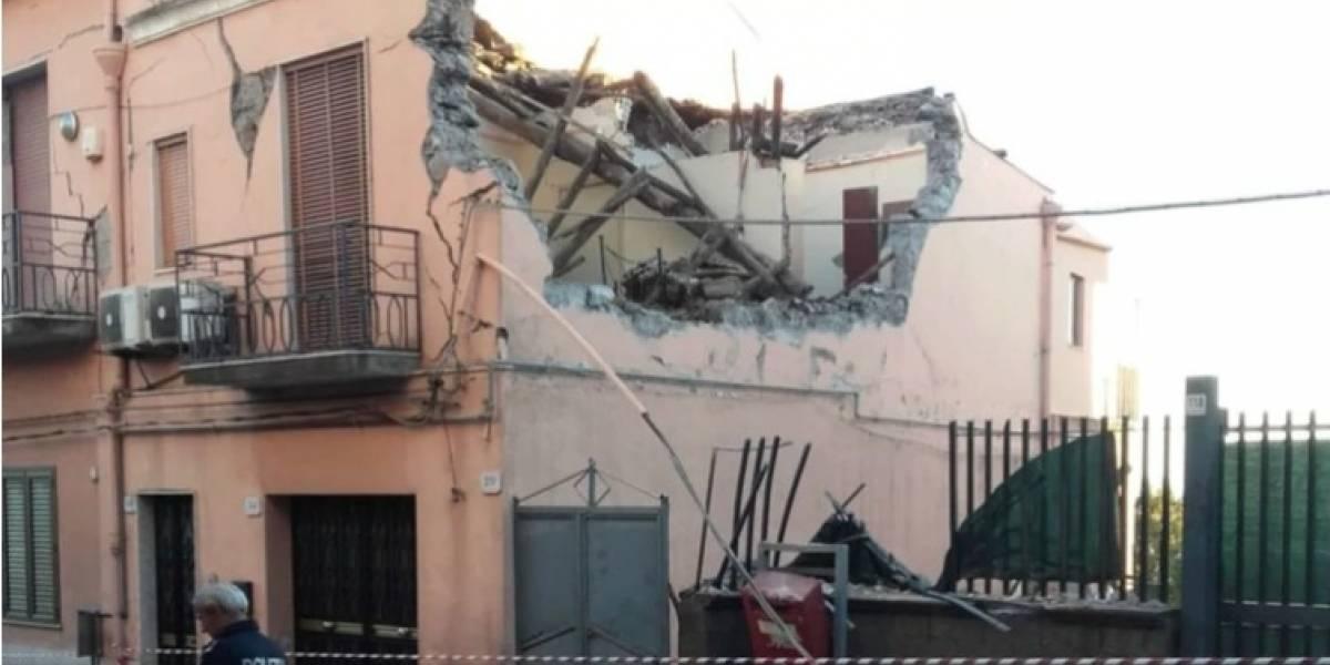 Italia: Sismo de magnitud 4,8 sacude Sicilia, causa derrumbes y 10 heridos