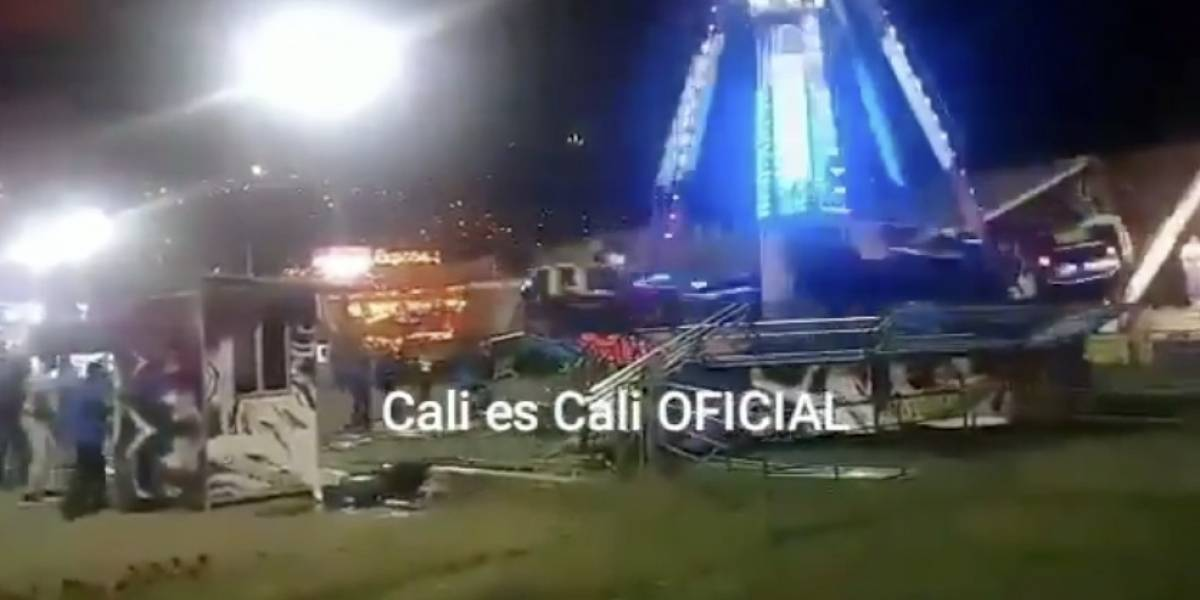 Video: accidente en parque de diversiones en Cali dejó seis personas heridas