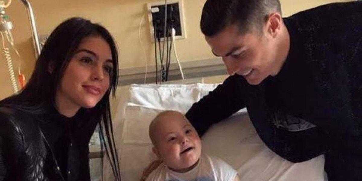 Cristiano Ronaldo y Georgina Rodríguez muestran su nobleza con niños con cáncer