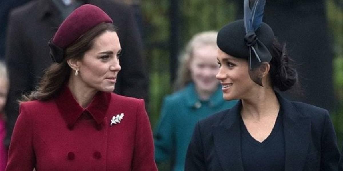 """Esta es la """"tregua"""" que hicieron Meghan Markle y Kate Middleton por orden de la reina"""