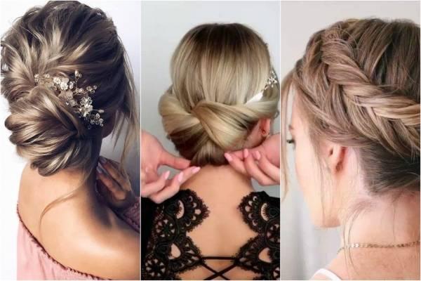 Peinados de fiesta con cabello recogido