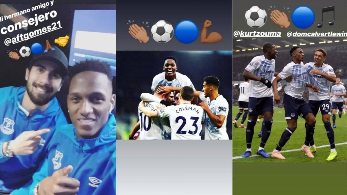 Primer gol de Yerry Mina en Everton
