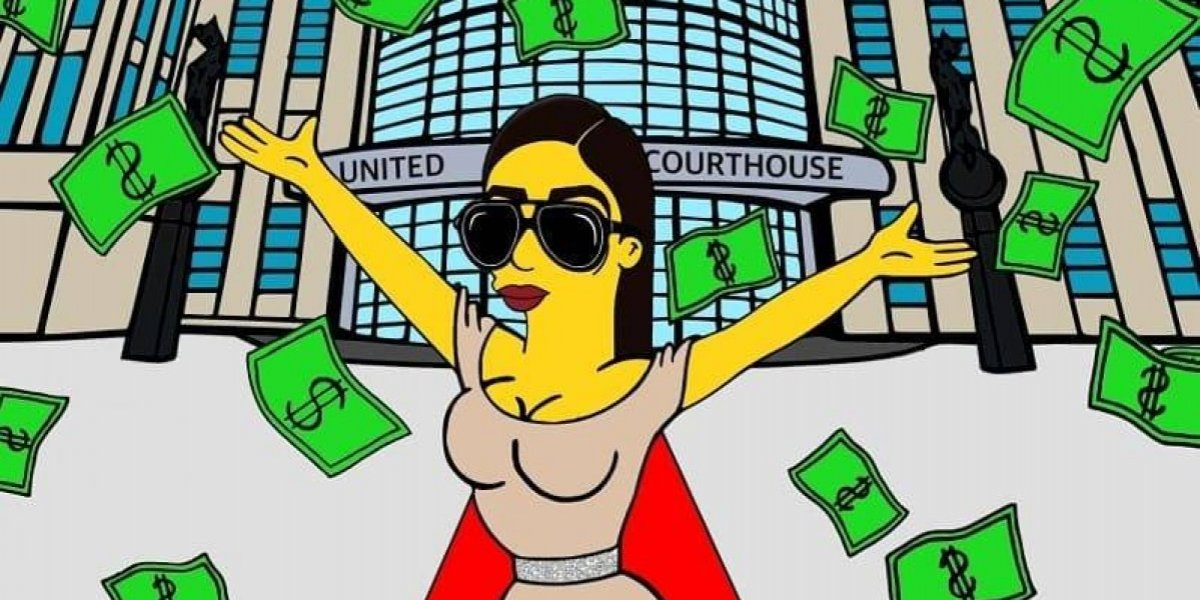 """Emma Coronel derrocha dinero y glamour al estilo de """"Los Simpson"""""""