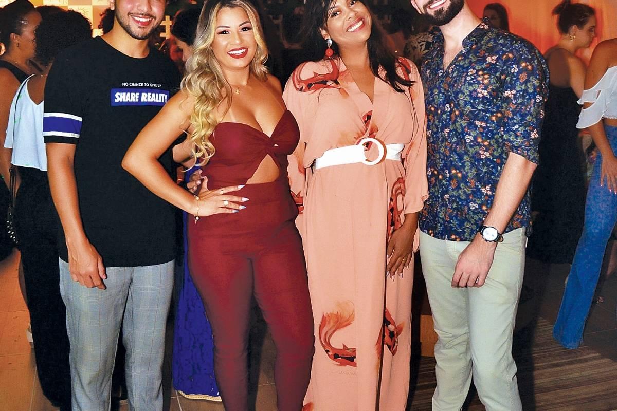 Na inauguração da Confraria de Beleza, em Vila Velha: André Rangel, Elida Torezani, Kereen Christian e Patrikson Malta Thuanny Louzada