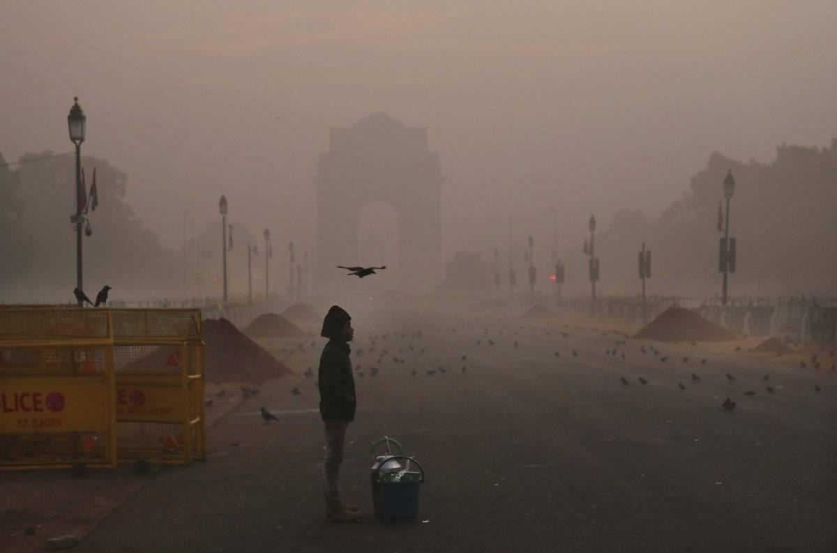 Contaminación en Nueva Delhi, en la India Foto: AP