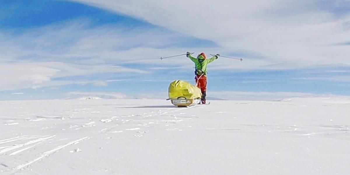 """""""¡Lo logre!"""": la increíble historia del primer hombre que atravesó solitariamente la Antártica a pie y sin asistencia"""