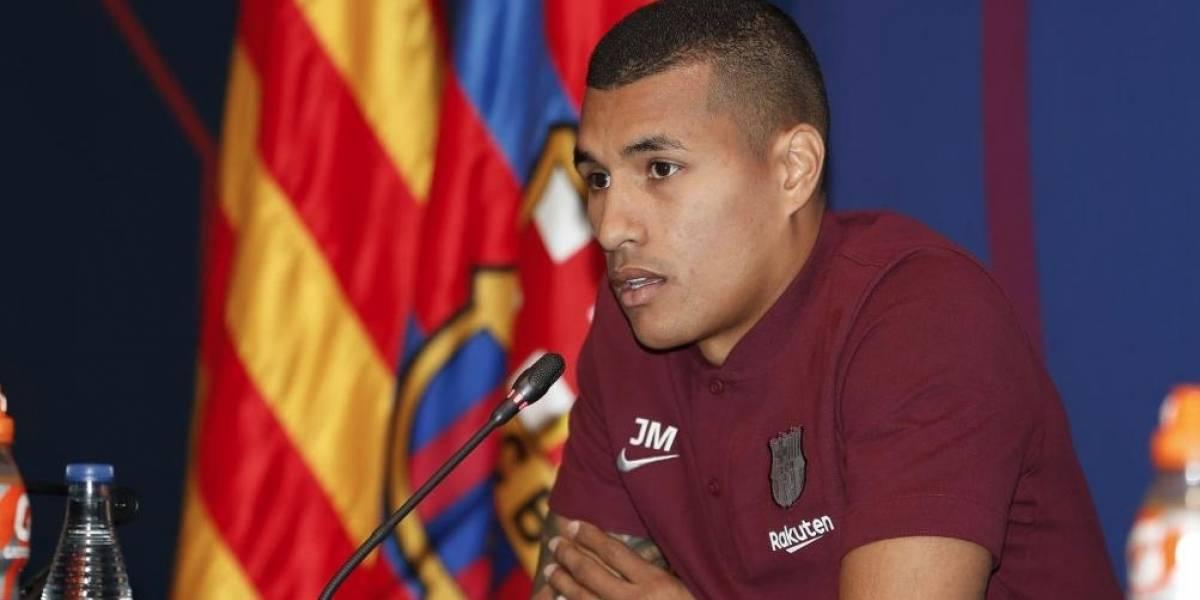 7380eaae83 Video  La complicada rueda de prensa de presentación de Jeison Murillo en  Barcelona
