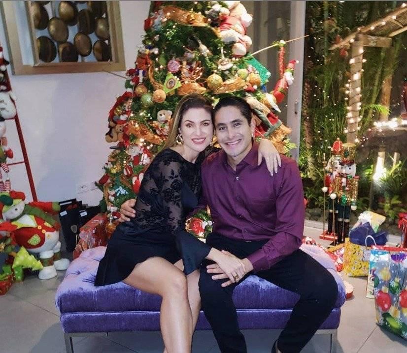 Constanza Báez y su esposo, Nelson Riofrio