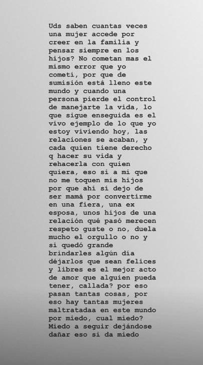 Captura de pantalla Instagram Andreina Fiallo