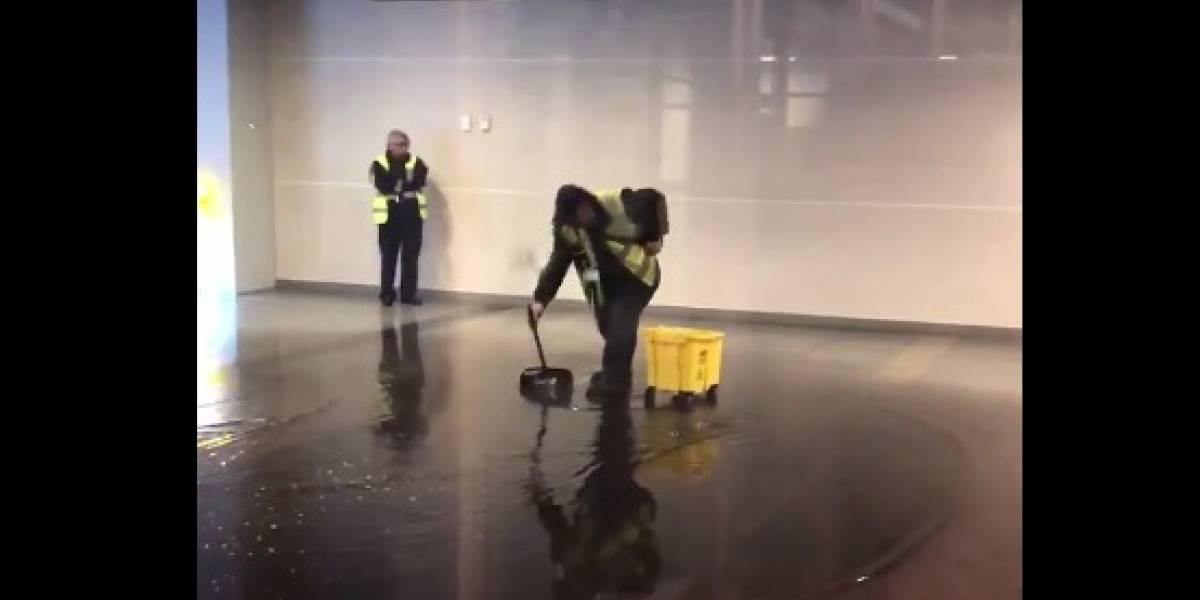 VIDEO: Inundación en el aeropuerto El Dorado