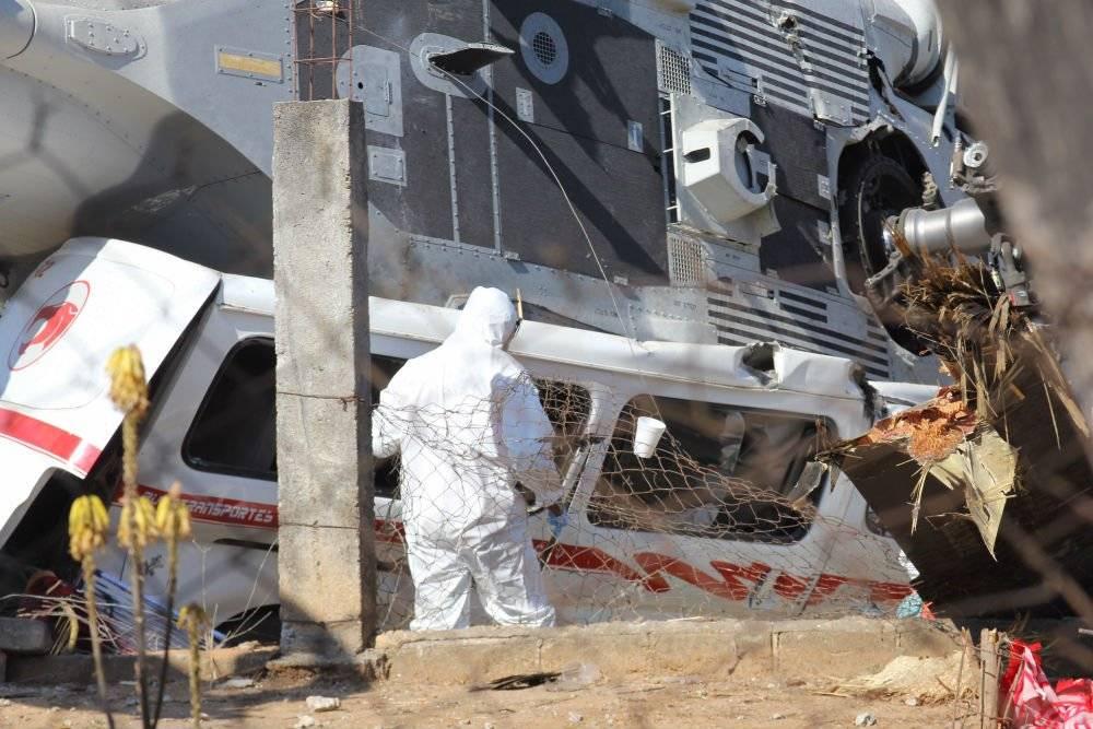 Desplome helicóptero en Oaxaca