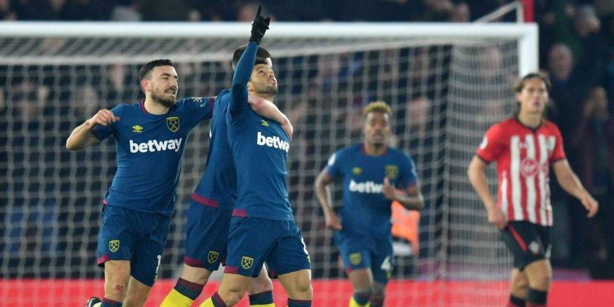 Felipe Anderson le devolvió la alegría a Manuel Pellegrini que gozó con una remontada de West Ham United