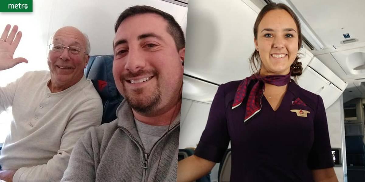 Pai de comissária passa o Natal em avião para estar junto com a filha