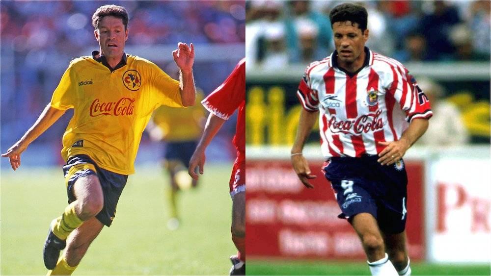 Al igual que Hermosillo y Aguirre, Ricardo Peláez inició su carrera como jugador del América y la terminó en el bando opuesto con las Chivas. / Mexsport
