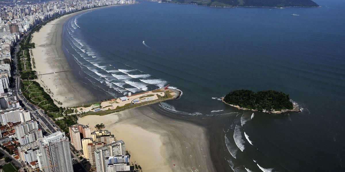Veja a situação das praias de Santos e São Vicente para o Ano Novo