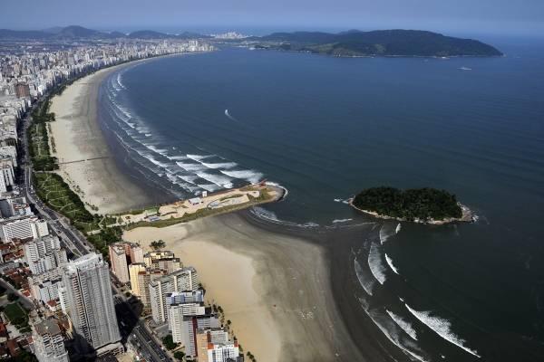 Praia do Gonzaga, em Santos