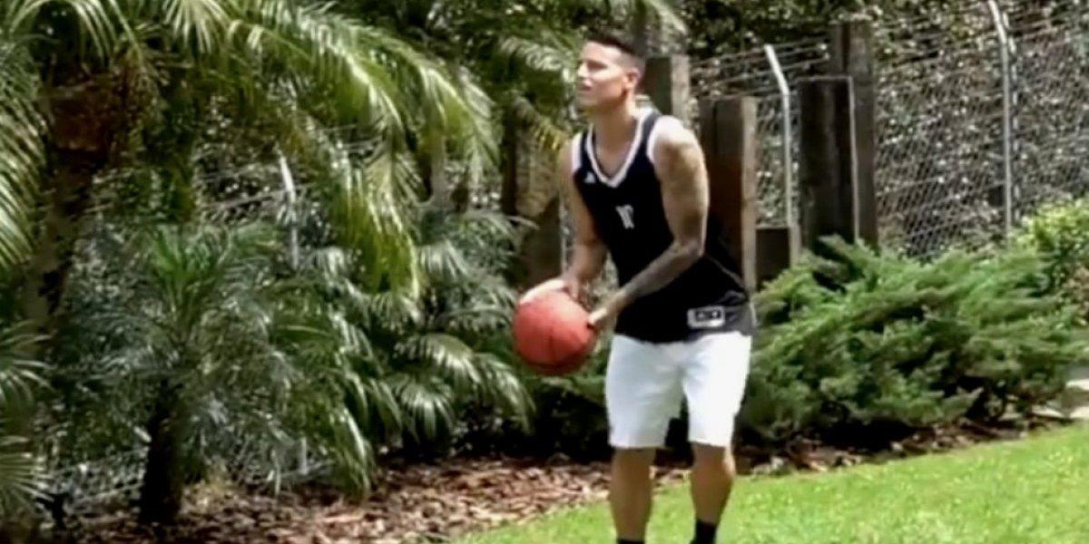 VIDEO: James Rodríguez muestra su habilidad en básquetbol