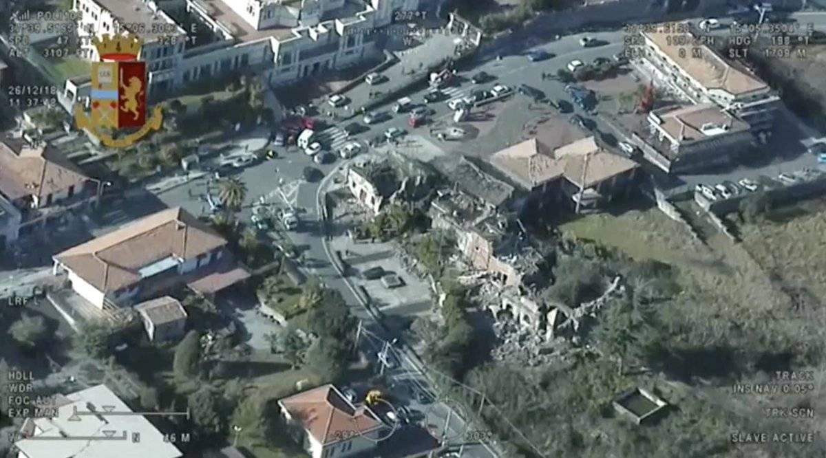 Sobrevuelo terremoto Sicilia EFE
