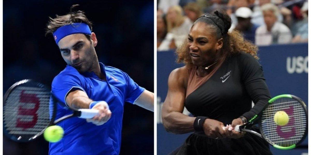 Serena Williams y Roger Federer se enfrentarán en un juego inédito