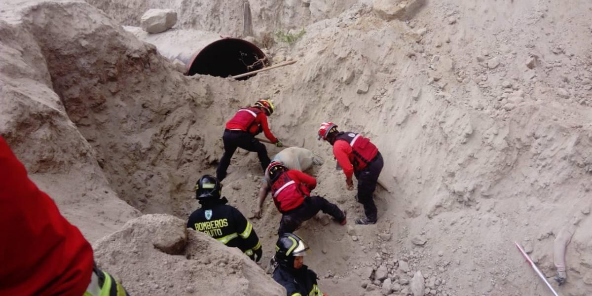 Cuatro obreros perdieron su vida por deslizamiento de tierra en San José de Minas
