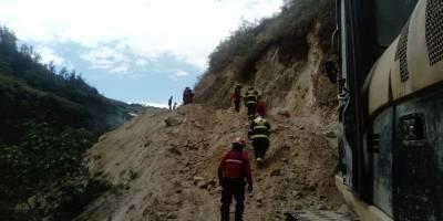 Cuatro fallecidos por deslizamiento de tierra en San José de Minas