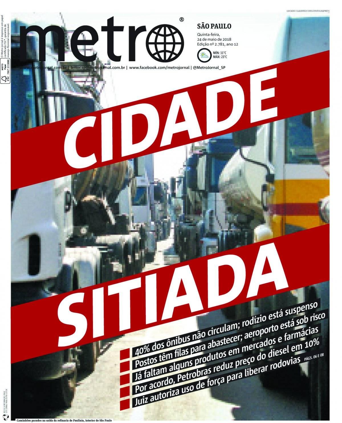 24 de maio. A greve dos caminhoneiros pegou o governo de surpresa e travou o país; as consequências se estenderam por todo o ano