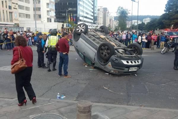 Quito: Accidente en la avenida Naciones Unidas e Iñaquito